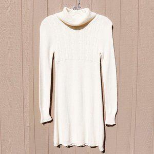 So Ivory Cowl Sweater Dress